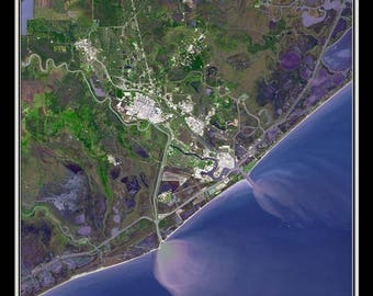 Freeport Texas Satellite Poster Map