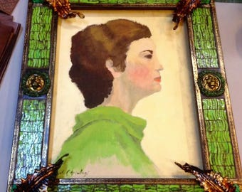 Frame in murano glass mosaic