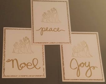 Christmas Card, Religious Christmas Cards, Christmas Wishes, Christmas Card Greetings, Holiday Cards, 3 Kings Package of 10