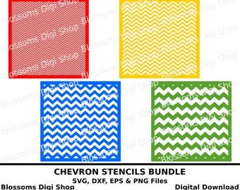 Chevron bundle svg files, digital download, chevron svg template, chevron stencil, eps vector file, cameo svg, chevron png, commercial use