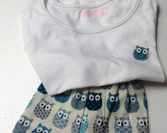 Pajama pants girl, theme owls