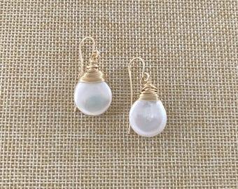 Handmade Pearl Drop Earrings