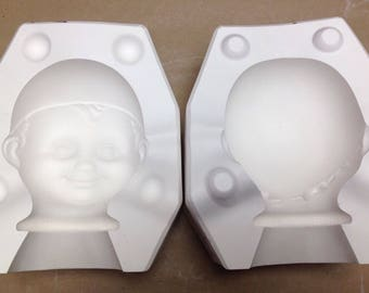 "Vintage Estate 16"" Piero Doll Head Ceramic Mold 2680 Bell Molds C4"