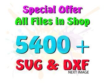 SVG Bundle for SVG Files Cutting Monogram Cricut Designs Fonts - SVG Files for Silhouette - Instant Download