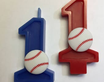Baseball Birthday Number Candle