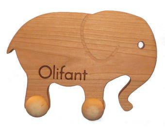 Handmade wooden Elephant toy personalised