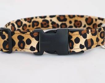 Handmade animal print dog collar x 1