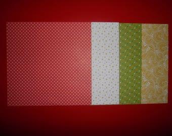 set of 4 paper origami 15 x 15 cm