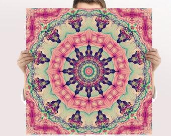 Boho Art Print - Mandala - Buddhist Wall Art, 12x12 Print - Square Art, Digital Download - Round Art, Zen Circle - Spa Decor | Meditation