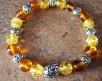 Natural stone bracelet amber