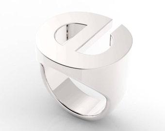 Helvetica Buchstabe Monogramm Siegelring  Ring  935 Silber Nach Maß