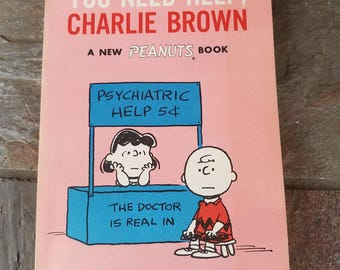 You Need Help Charlie Brown A New Peanuts Book by Charles M. Schulz 1967