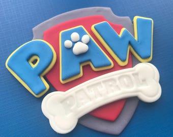 Paw Patrol Inspired Cake Topper-Fondant