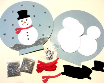 12 Snow Globe Crafts for children. Snowman craft. Winter Paper Crafts. Holiday classroom projects
