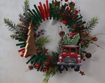 Rustic Holly Days Wreath