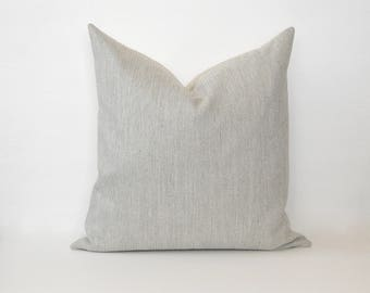 Gray Modern Loom Pillow Cover