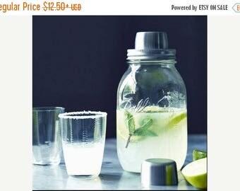 ON SALE Mason Jar Cocktail Shaker, Mason Jar Shaker, Cocktail Shaker, Quart Size Mason Jar, Pint Size Mason Jar, Bar Decor, Hostess Gift