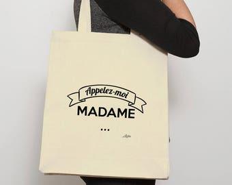 "Women shopping bag ""call me Madam"""