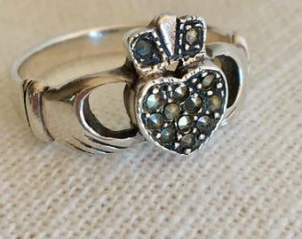Claddagh Marcasite Ring