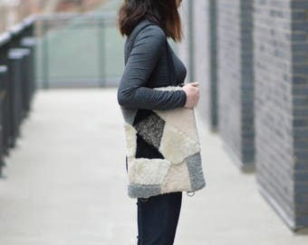 Vertical Laptop/Book Tote - Convertible from Crossbody to Backpack