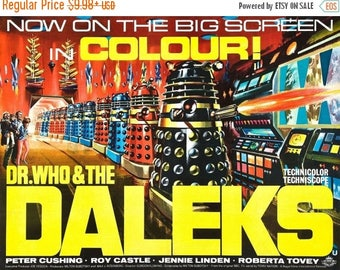 Summer Sale DR. WHO And The DALEKS Movie Poster 1965