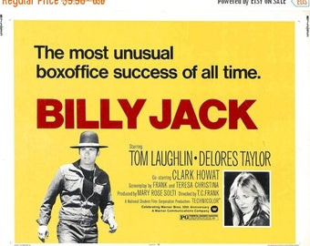Back to School Sale: BILLY JACK Movie Poster 1971 Tom Laughlin
