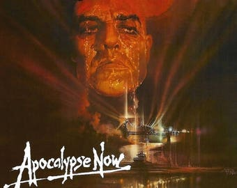 Back to School Sale: APOCALYPSE NOW Movie Poster 1979 RARE Version Marlon Brando