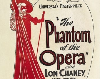 Back to School Sale: The Phantom of the Opera (1925) Movie Poster