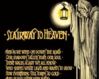 Back to School Sale: Led Zeppelin (1971) Stairway to Heaven POSTER