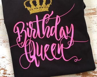 Birthday Queen Tee, Graphic Tee, Women's Birthday Shirt