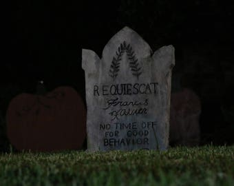 Haunted Mansion Inspired Tombstone -