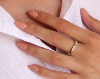 Evil Eye Ring,  Minimalist Ring, Gold Ring, Dainty Ring, Stackable Ring,  Dainty Ring, Midi Ring, Gold Stacking Ring, Evil Eye, Protection