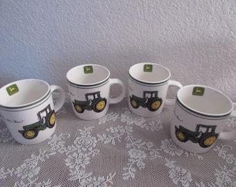 Vintage John Deere Coffee Mugs