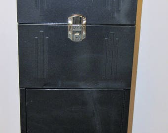Industrial File Cabinet Locker Tool Box Keys Mid Century Metal Storage Cabinet Industrial Art Decor Organizer Vintage Decor