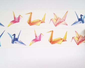 Design Washi tape folded paper cranes