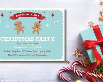 Ain't No Party Like A Christmas Party DIY Printable Invitation