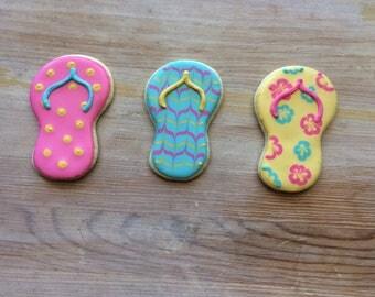 Flip Flop Cookies (1 dozen)