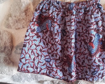 Short skirt hand-made in cotton African fabric