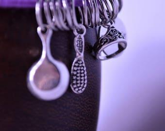Set of five princess bangles charm bracelets set