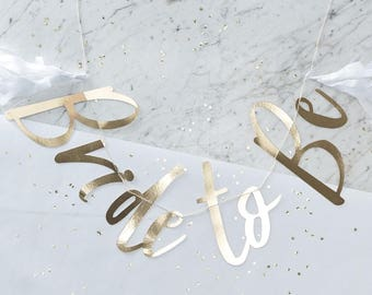 Gold Foiled Bride To Be Bunting - I Do Crew - Hen Party Decor - Bridal Shower Decor - Bachelorette Bunting - Engagement Party -  NK0526