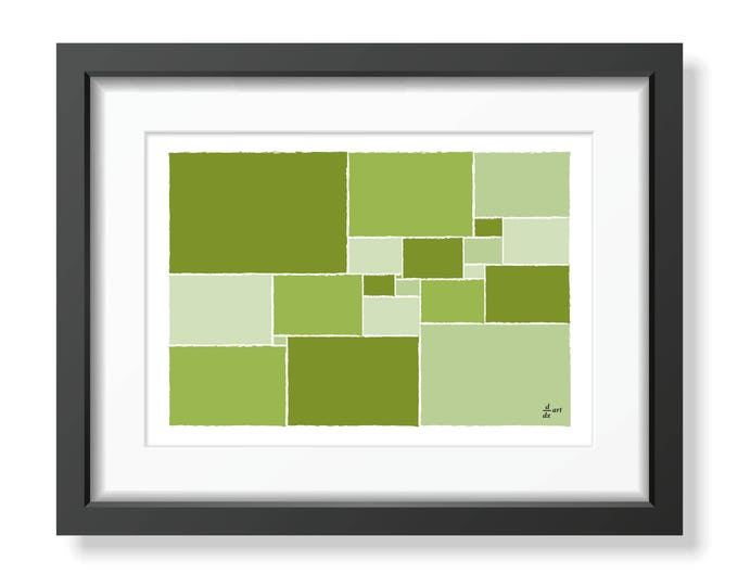 Squared square stretched 09 [mathematical abstract art print, unframed] A4/A3 sizes