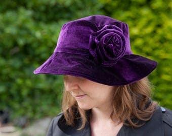 Sewing pattern wide-brim velvet stylish hat
