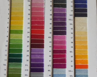 10% OFF Set of 55 Art Silk Thread Spools, Embroidery Thread, Art Silk Thread, Silk Embroidery Thread- Choose from Shade Card