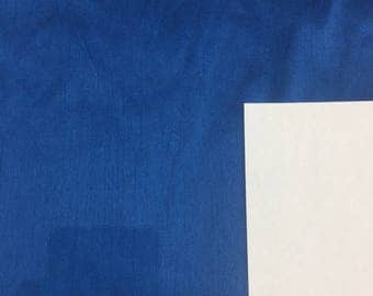 Blue Shantung Faux Silk Polyester Drapery Fabric  by the yard 40 colors