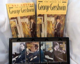I Got Rhythm The Music of George Gershwin 4 Audio Cassette Box Set. Gershwin Cassette Tapes. Cassette Tape Box Set.