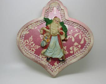 Vintage Themed Ornament -Handcrafted