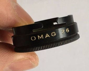 Swiss Made OMAG 26mm Yellow Filter Push Fit Push On Filter - Vintage Filter - Vintage Camera Filter
