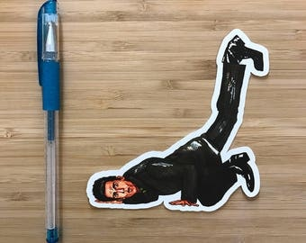 Zoolander Vinyl Sticker, Derek Zoolander, Mugatu, Hansel, Ben Stiller, Will Ferrell, Comedy Movies, Pop Culture, Vinyl Decal, Diecut Sticker