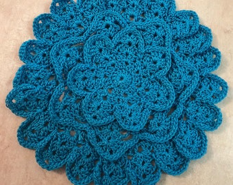 Doily or Coaster-rich turquoise