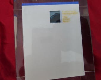 1984 Alaska Pacific Bancorporation Annual Report PAPERWEIGHT Lucite Cube